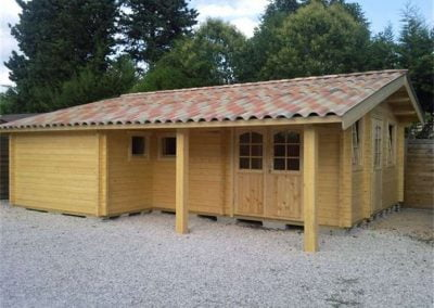 Bespoke log cabin design