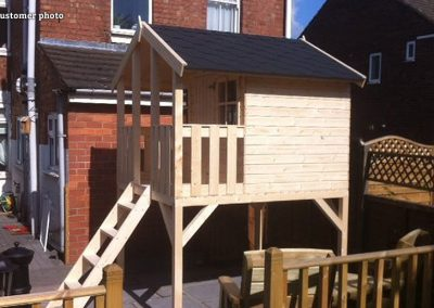 Toby (2.1 sqm) timber playhouse on stilts