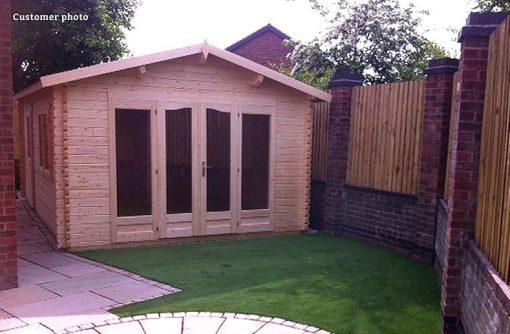 Irene (19.0 sqm or 23.9 sqm) garden log cabin