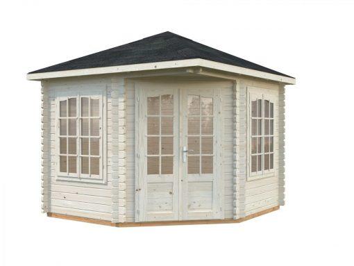 Melanie (6.6 sqm) heavy duty corner summer house