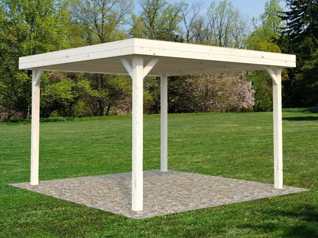 Lucy (12.2 sqm) modern square timber gazebo