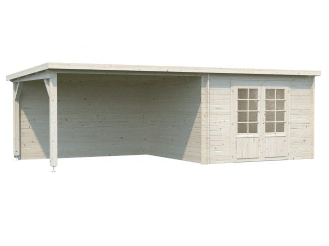 Ella (8.7 sqm + 8.2 sqm) pent garden room with roof extension
