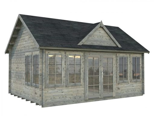 Claudia (19.4 sqm) large clockhouse log cabin