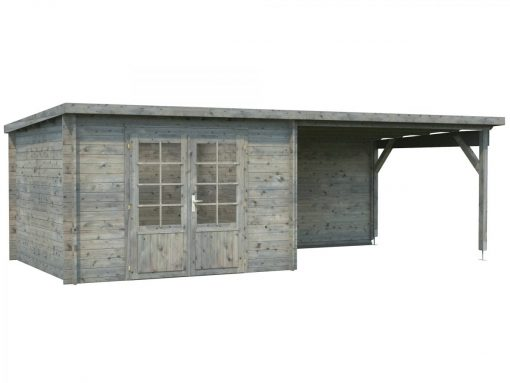 Ella (8.7 sqm + 10.0 sqm) pent garden room with roof extension