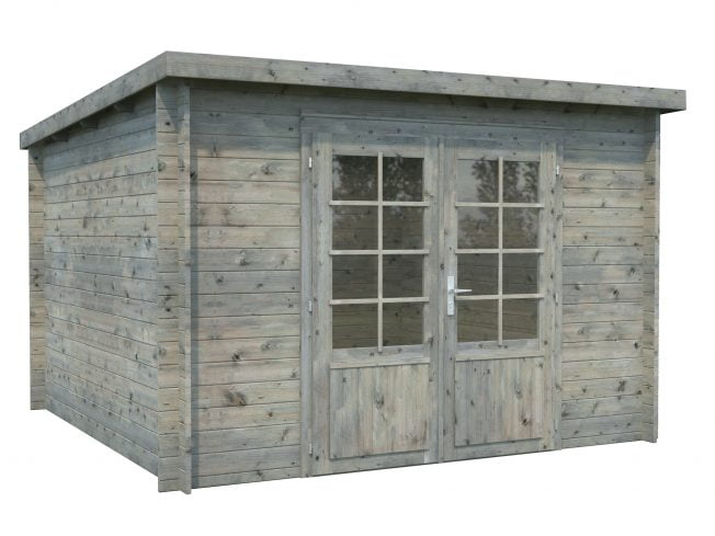 Ella (8.7 sqm) pent garden room with roof extension