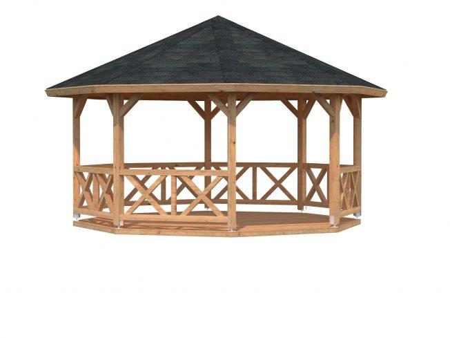 Betty (18.0 sqm) octagonal wooden garden gazebo