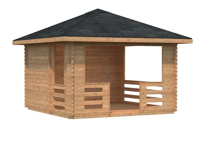 Julie (10.5 sqm) timber gazebo with wind protection