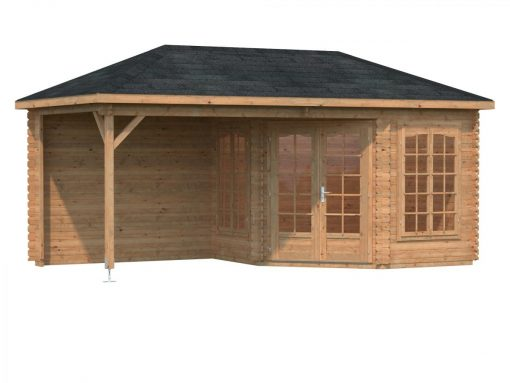 Melanie (6.8 sqm + 8.3 sqm) pavilion summer house with canopy