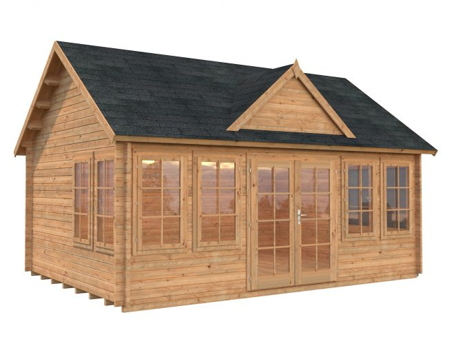 Claudia (19.4 sqm) large clockhouse log cabin
