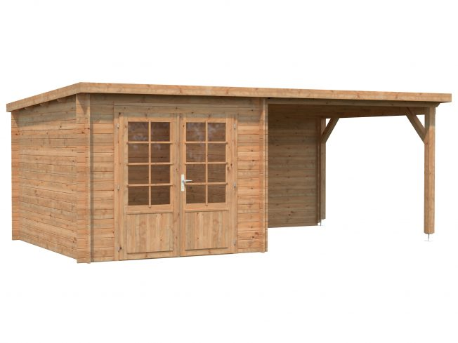Ella (6.9 sqm + 8.2 sqm) pent summer house with roof extension