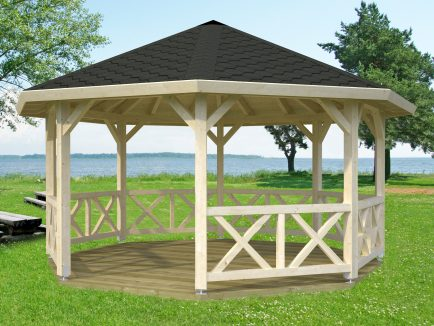 Betty (18.0 sqm) octagonal wooden garden gazebo