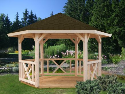 Betty (9.9 sqm) hexagonal garden gazebo