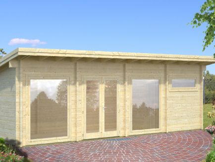 Heidi (22.8 sqm) large pent heavy duty garden room