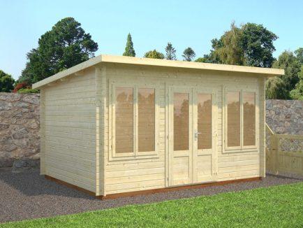 Lisa (11.5 sqm) pent timber garden room