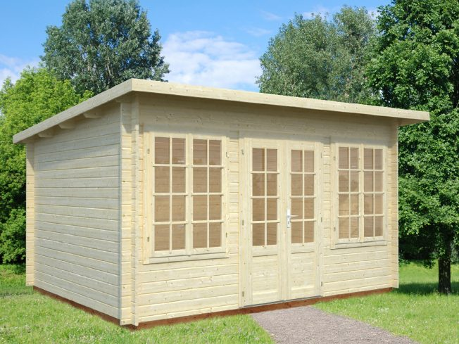 Lisa (11.5 sqm) pent timber garden room