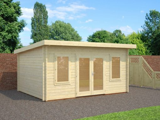 Lisa (14.2 sqm) modern pent garden office