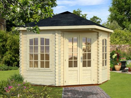 Melanie (6.6 sqm) heavy duty corner summer house