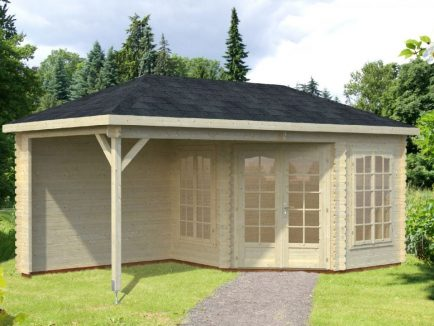 Melanie (6.8 sqm + 8.3 sqm) pavilion summer house with canopy