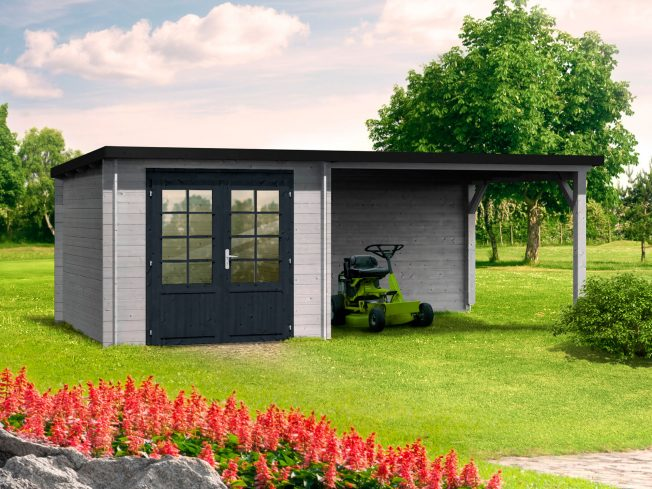 Ella (6.9 sqm + 10.0 sqm) pent summer house with roof extension