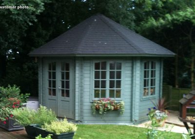 Hanna (14.1 sqm) large octagonal summer house
