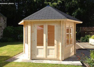 Hanna (7.6 sqm) hexagonal timber garden pavilion