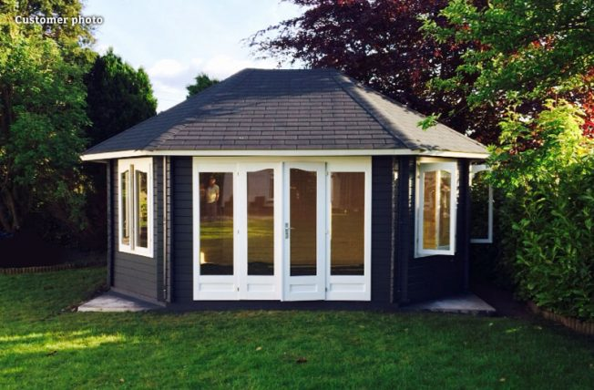 Hanna (20.3 sqm) large timber garden pavilion