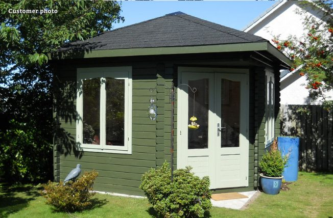 Melanie (9.6 sqm) large heavy duty corner summer house