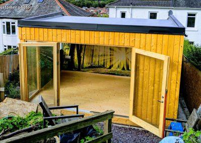Solveig (13.6 sqm) modern garden sunroom