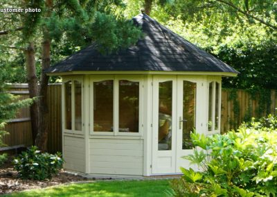 Veronica (6.7 sqm) octagonal summer house | Four windows