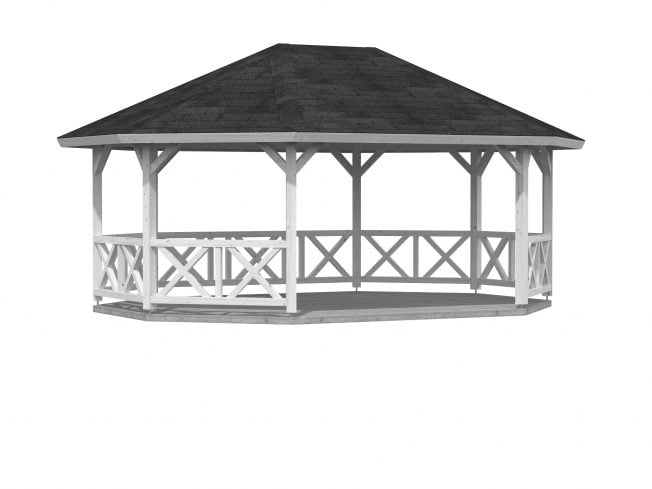 Betty (25.0 sqm) extra large wooden garden gazebo