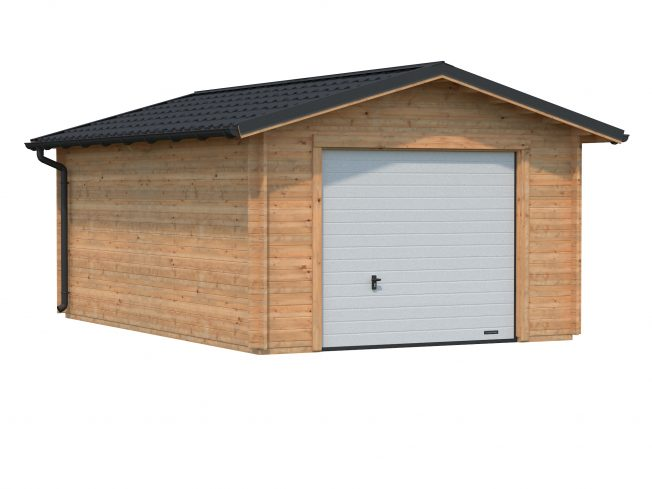 Tomas (19.2 sqm) traditional timber single garage with metal roof