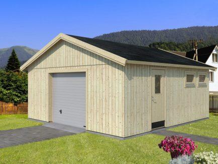 Andre (28.5 sqm) large self-build timber single garage