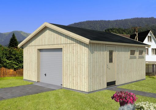 Andre (28.5 sqm) large self-build timber single garage