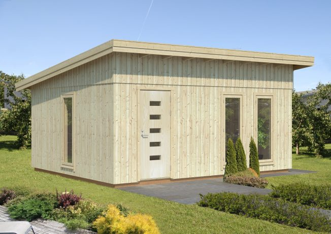Annika (21.5 sqm) large pent timber garden building