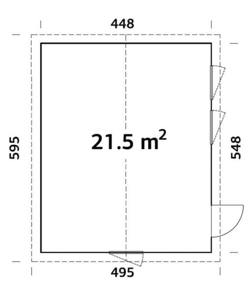Charlotte (21.5 sqm) large modern garden room