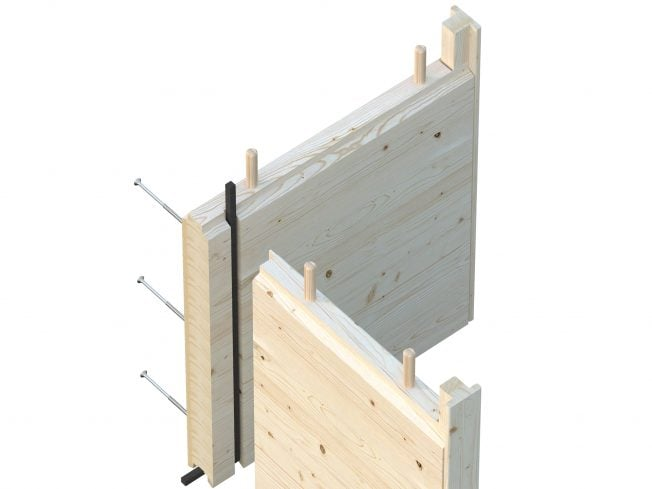 56mm glue laminated timber wall elements
